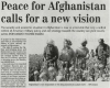 Peace for Afghanistan Calls for a New Vision